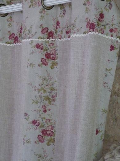 rideaux charme d 39 autrefois couleur lin couture en 2019 rideaux shabby chic rideaux et. Black Bedroom Furniture Sets. Home Design Ideas