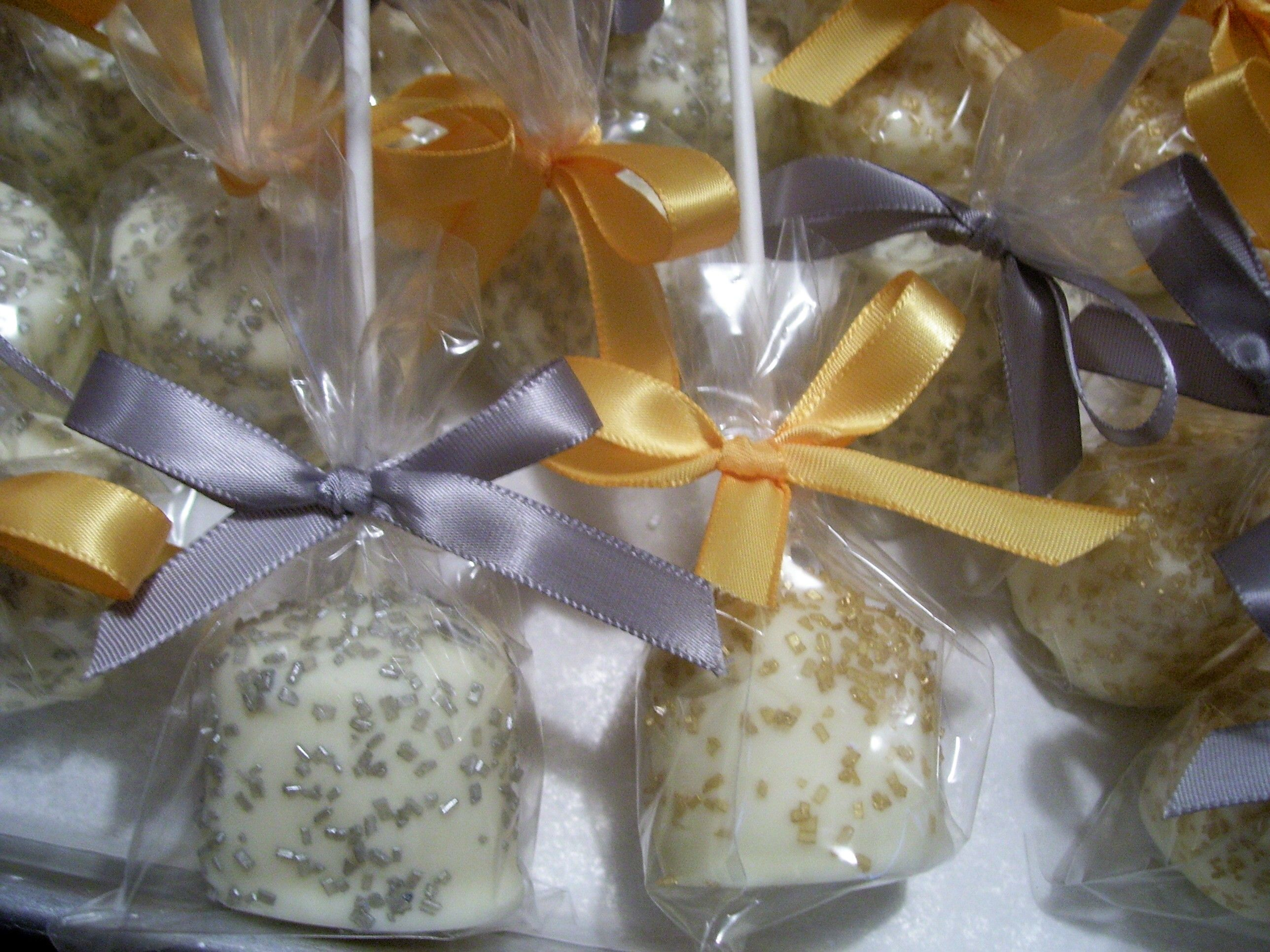 Silver And Gold Marshmallow Pops ~ Baby Shower Twinkle Twinkle