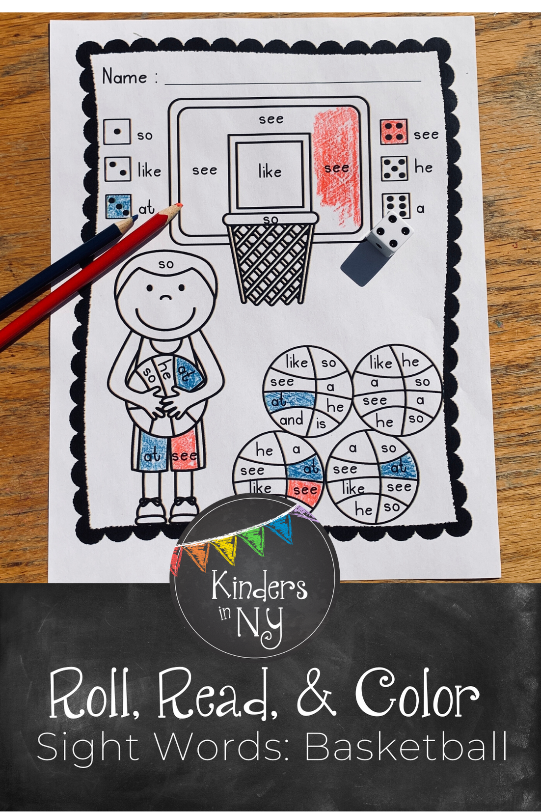 Sight Word Practice Basketball In