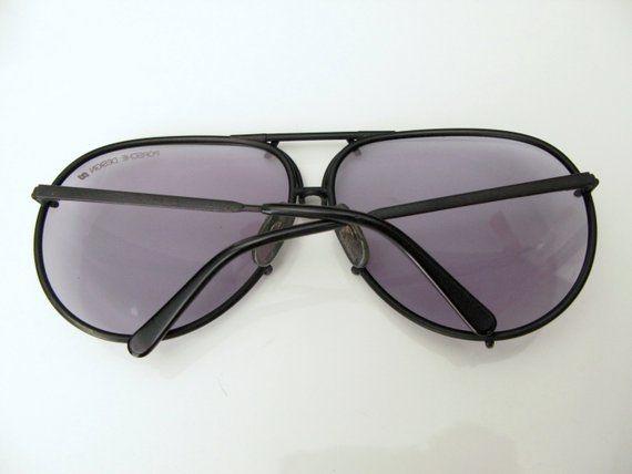 49983425c 80s Carrera sunglasses - vintage Porsche Design matte black gray metal 5623  90 aviators large sport