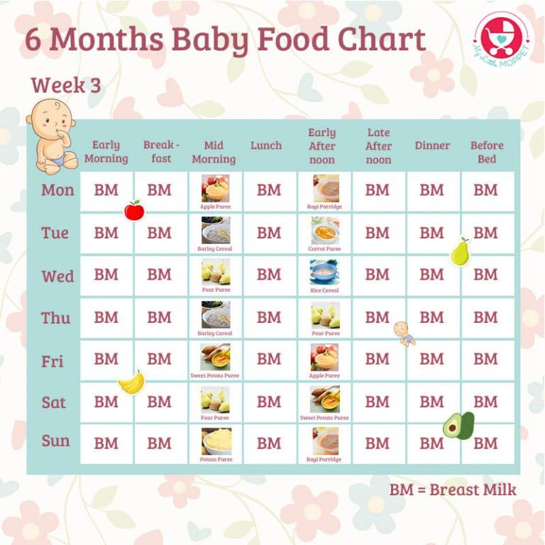 6 Months Food Chart For Indian Babies Baby Food Chart 6 Month Baby Food Food Charts
