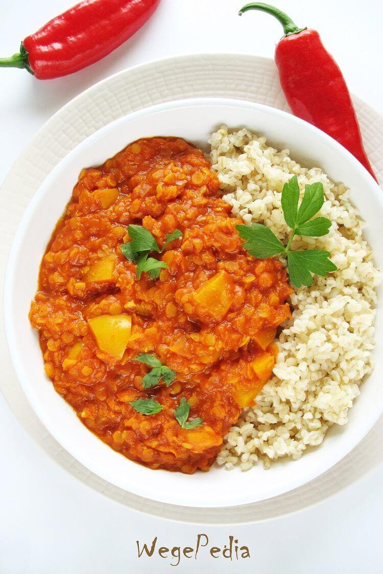 Fit Curry Z Soczewica Pomidorami I Papryka Weganskie Wegepedia Recipe Meat Diet Culinary Recipes Healthy Recipies