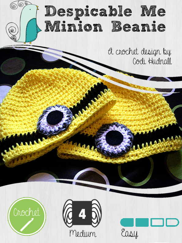Despicable Me Minion Hat Pattern By Codi Hudnall Knit Grit