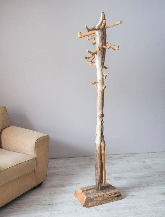 Coat rack, Free standing driftwood coat stand, Rustic coat