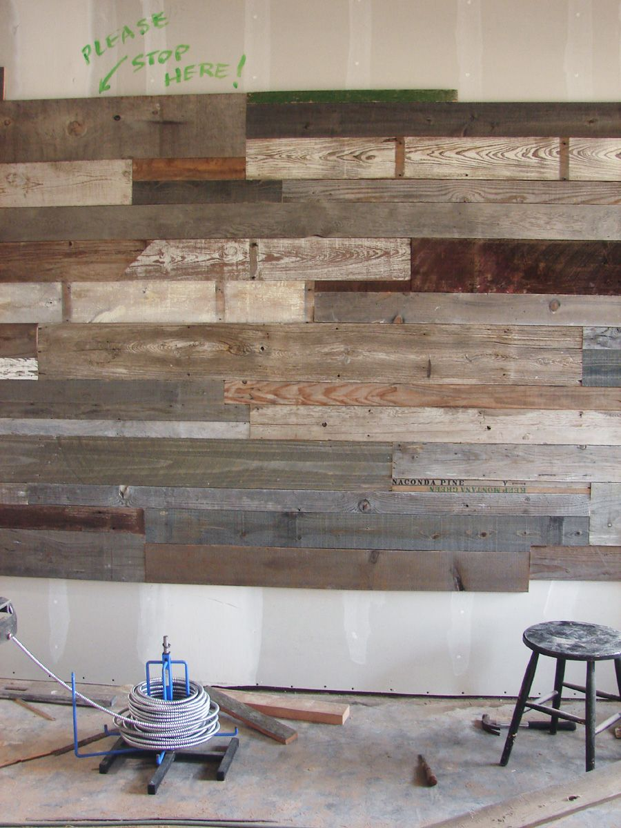 Reclaimed wood wainscot - Rustic wood such as this 42