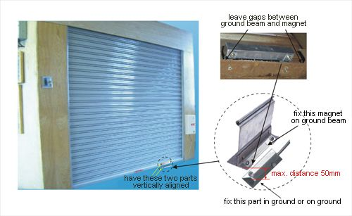 There Is Specific Magnetic Switch For Rolling Door Of Garage And