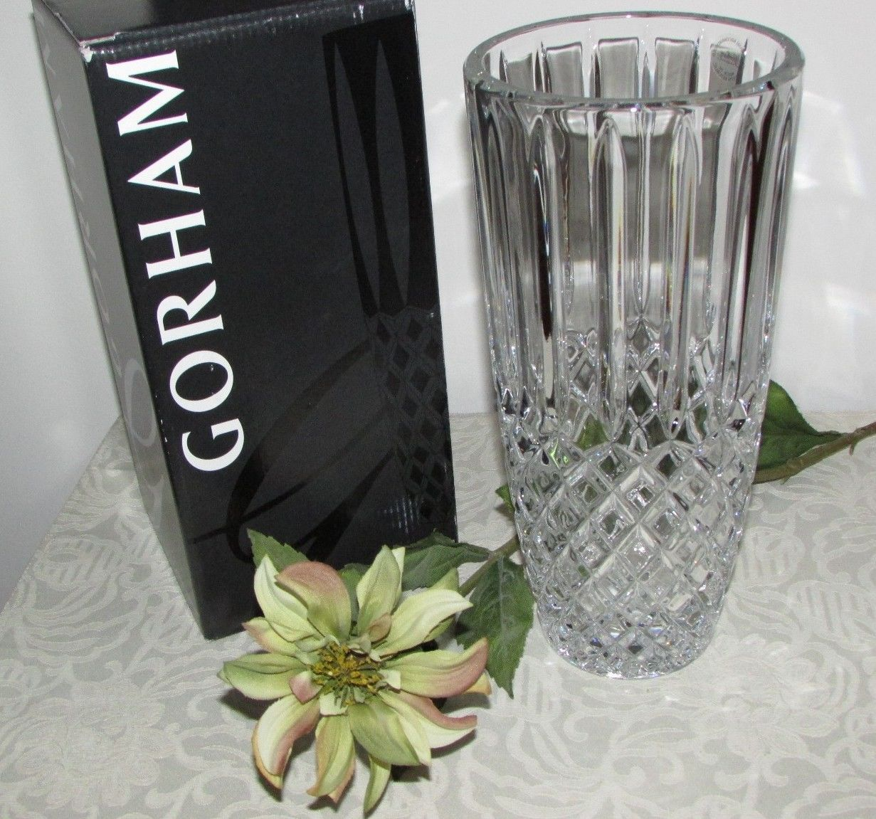 Gorham crystal lady anne 7 rose bowl vase new in box crystal lady anne 105 crystal vase by gorham 824832a brand new in gift box reviewsmspy