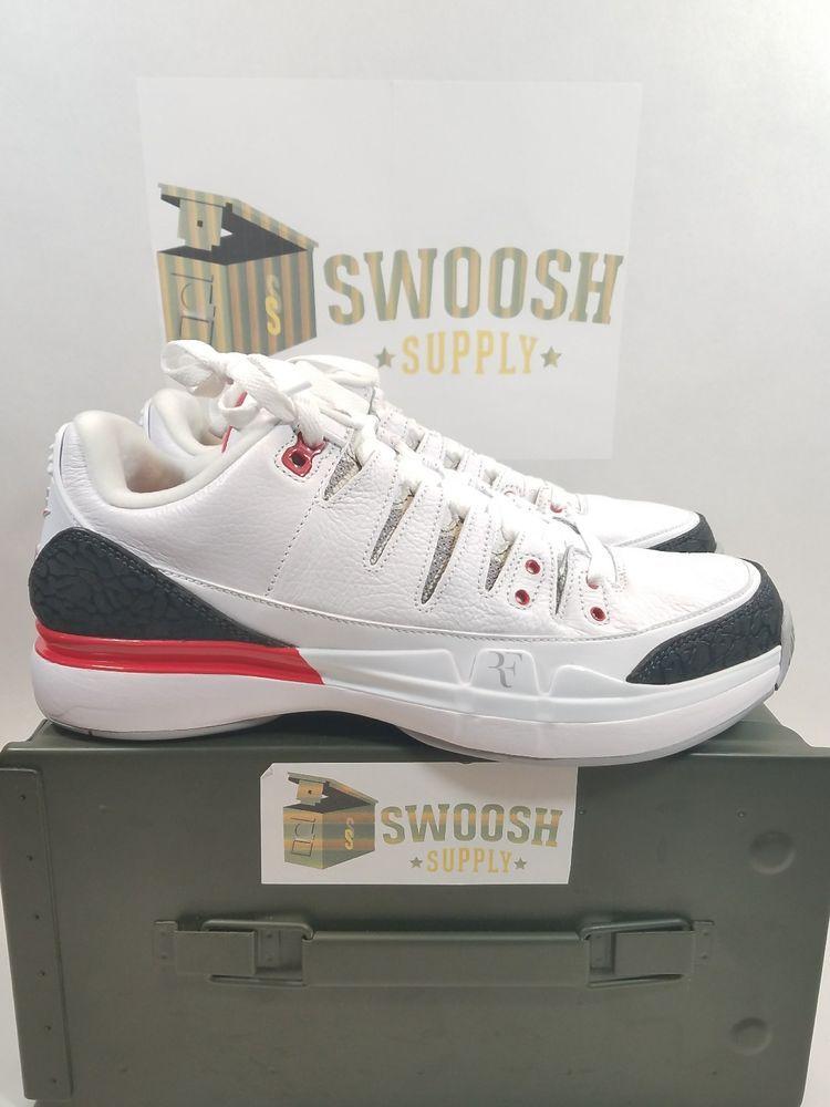 2c51a073b80 Nike Zoom Vapor AJ3 Fire Red Air Roger Federer RF 709998-106 8.5 Tennis  Jordan  Nike  TennisShoes