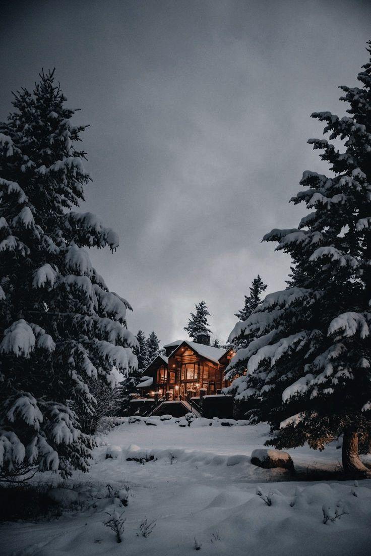 Pin By Mili Li On Lit Credence In 2020 Winter Scenery Winter Cabin Winter Wallpaper