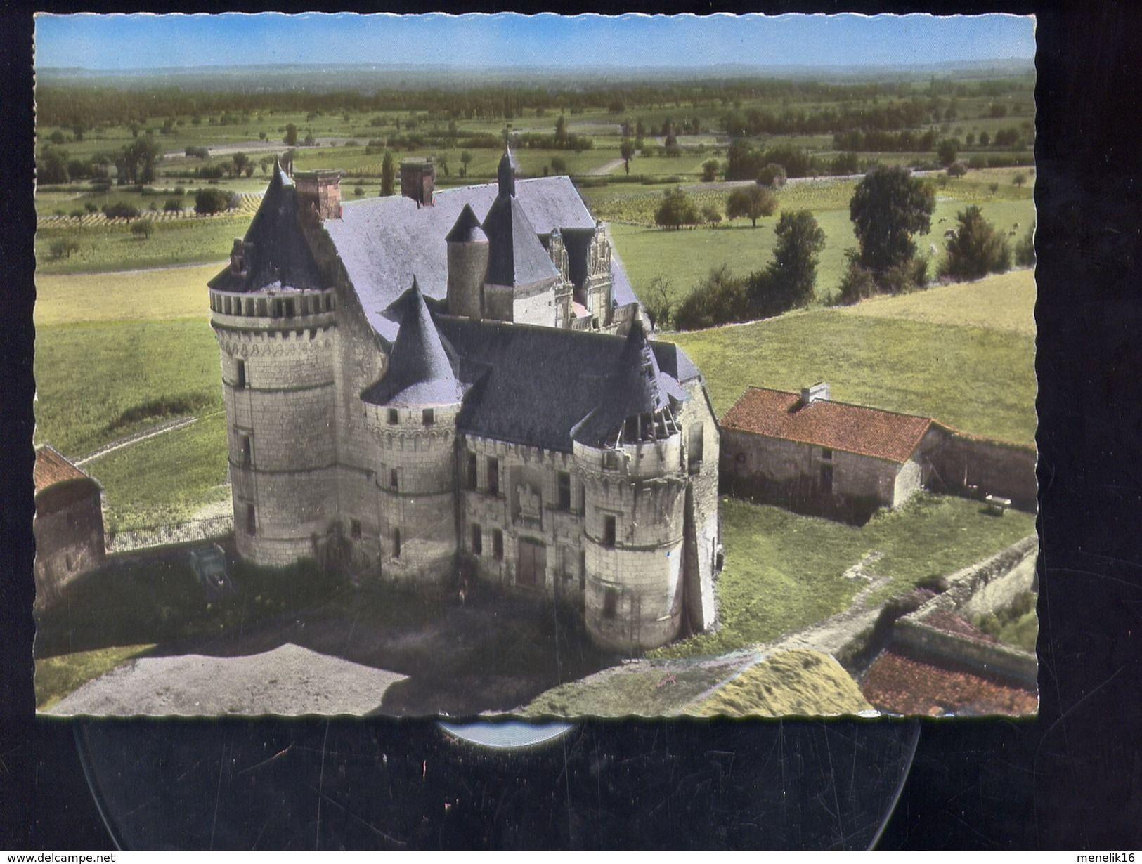 Vouneuil sur Vienne - CP - 86 - En avion au dessus de ... Monts-sur-Guesnes - Château de la Roche du Maine