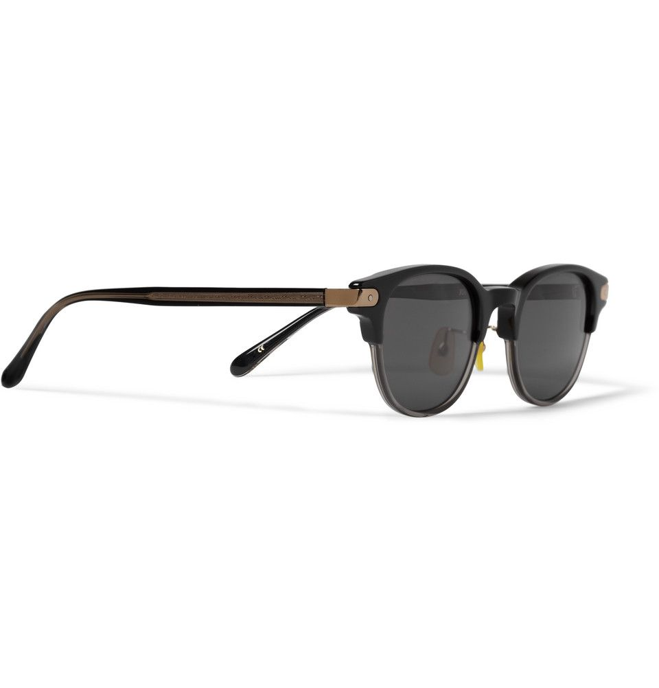 f4b1aaf296 Eyevan 7285 - 308 Round-Frame Two-Tone Acetate Sunglasses