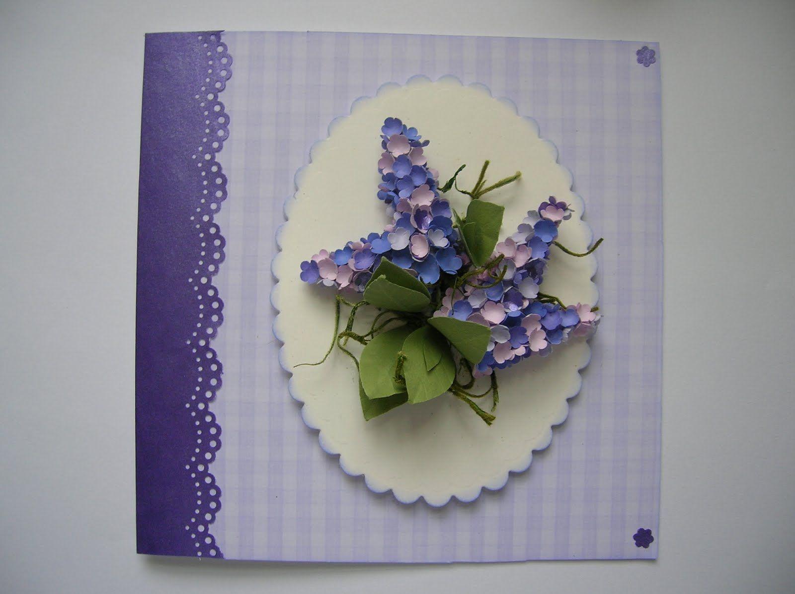Lilac paper art