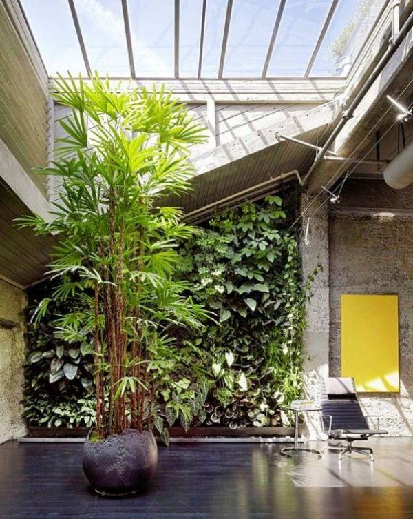 Große Grüne Pflanzen Im Wintergarten | Interior Design | Pinterest Wohnwintergarten Wintersonne Verglasung