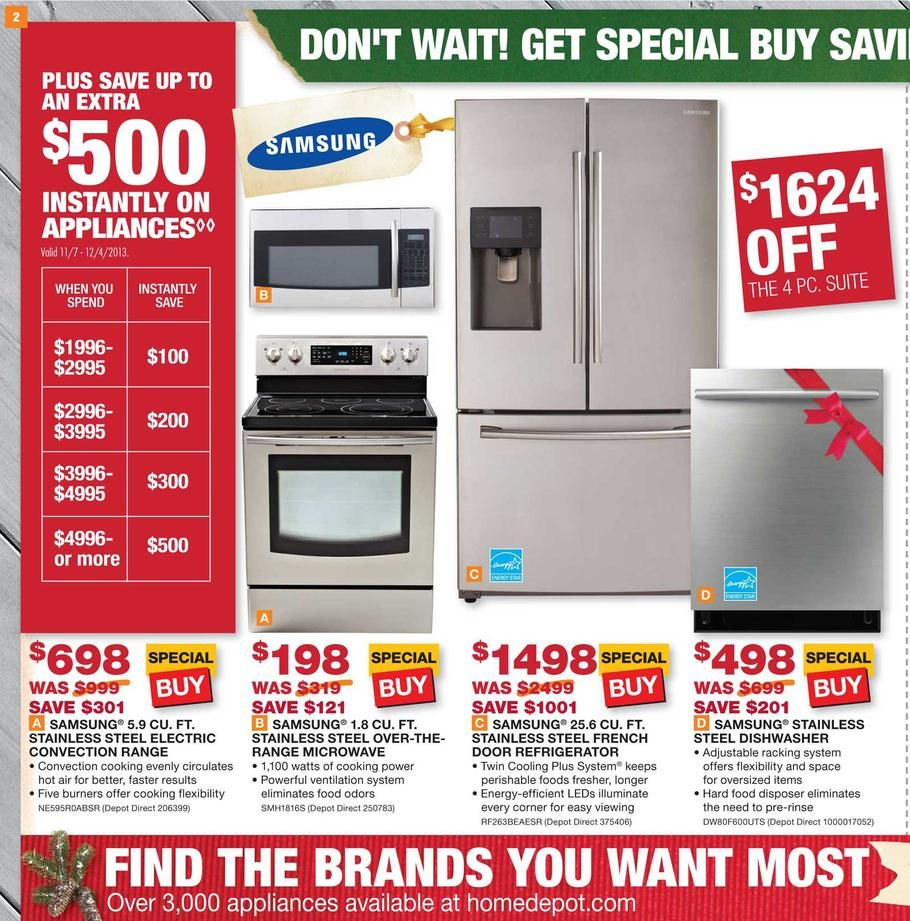 Home Depot appliance sale Samsung Appliances Pinterest