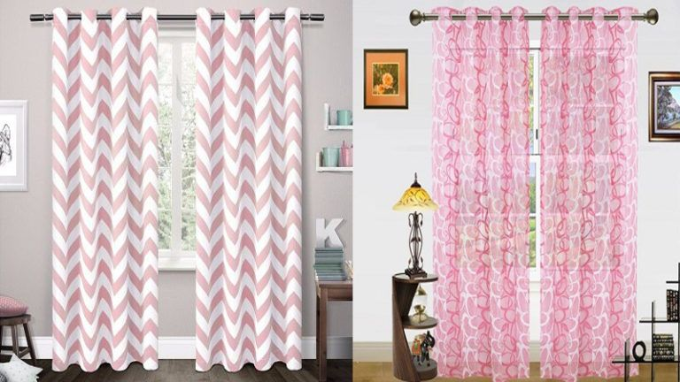 9 Latest Pink Curtain Designs With Pictures In 2020 Curtain Designs Pink Curtains Pink Bed Canopy