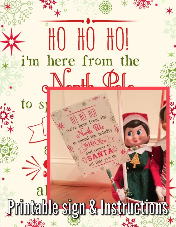 Elf on the Shelf Arrival by Hot Air Balloon #elfontheshelfarrival