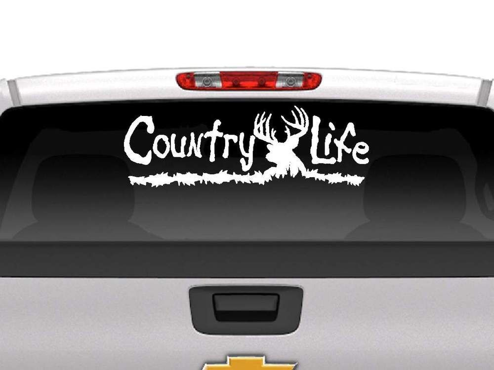 Country life decal vehicle decalstruck decalscar window