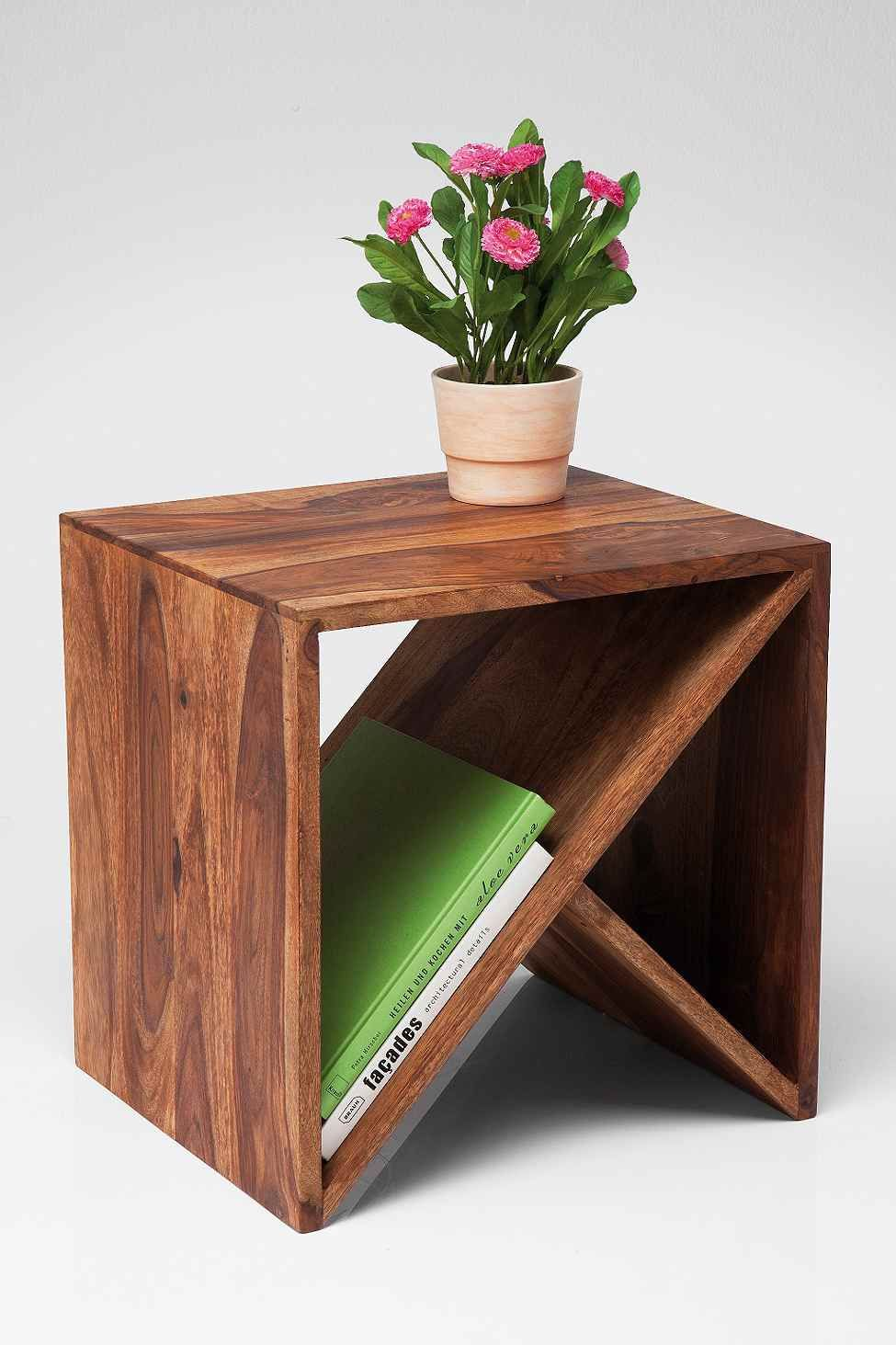 Zig Zag Cubed Side Table Pallet End Tables Diy Furniture Cool Woodworking Projects