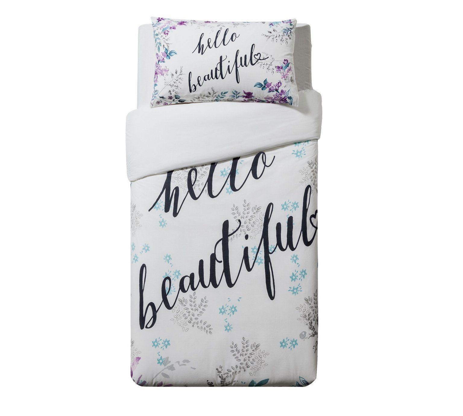 Buy Home Hello Beautiful Bedding Set Single Duvet Cover Sets