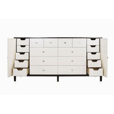 Low Price Belle Meade Signature Modern Glamour Monroe 8 Drawer Dresser Finish Espresso Luxe And Studio White
