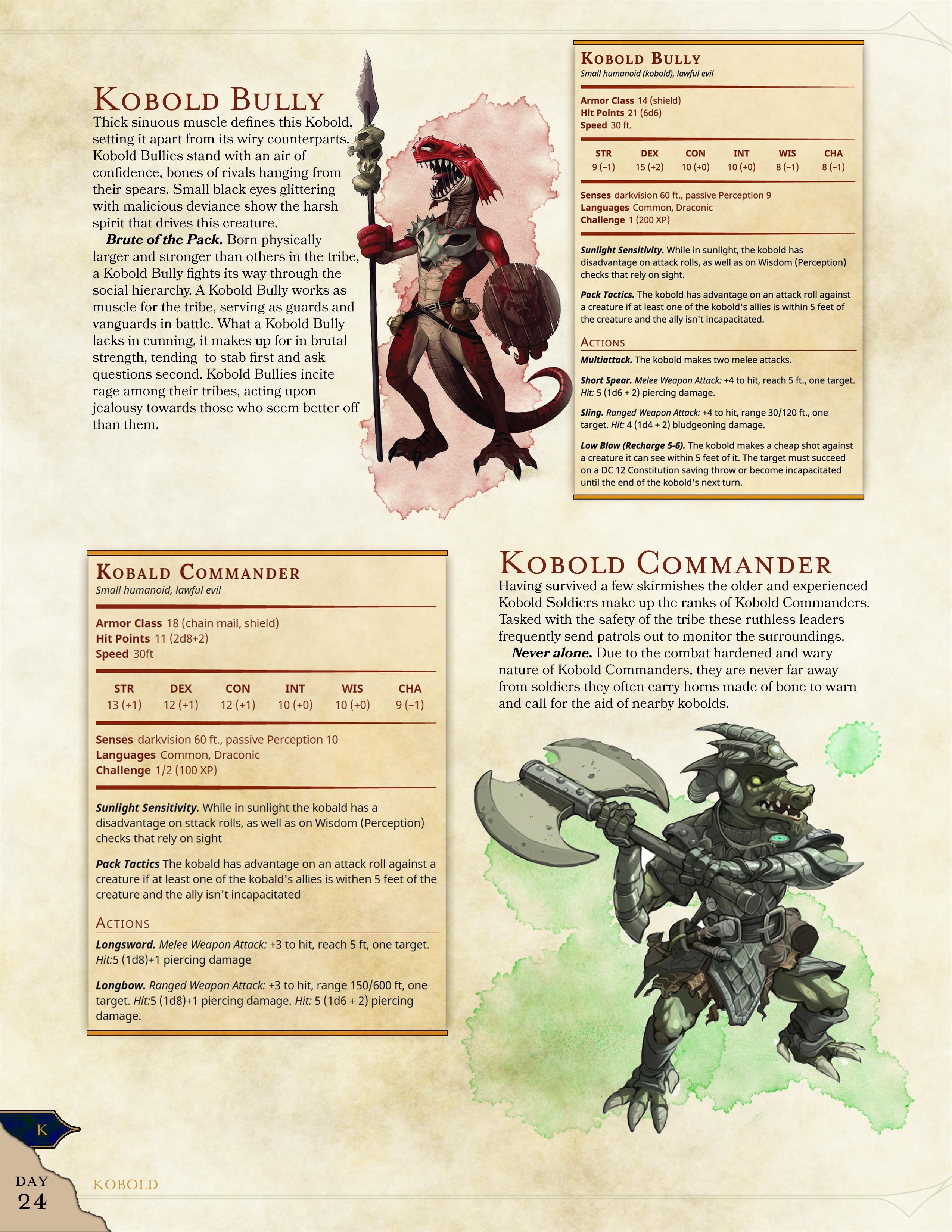 Updated Day 25 Kobold Bully with Bonus Monster by /u