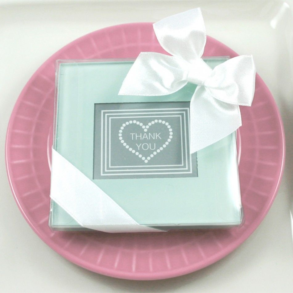 40 Sets Of 2 Glass Photo Coasters Wedding Favors Bridal Shower
