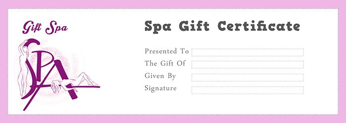Spa Gift Certificate Template - Free Gift Certificate Template - online gift certificate template