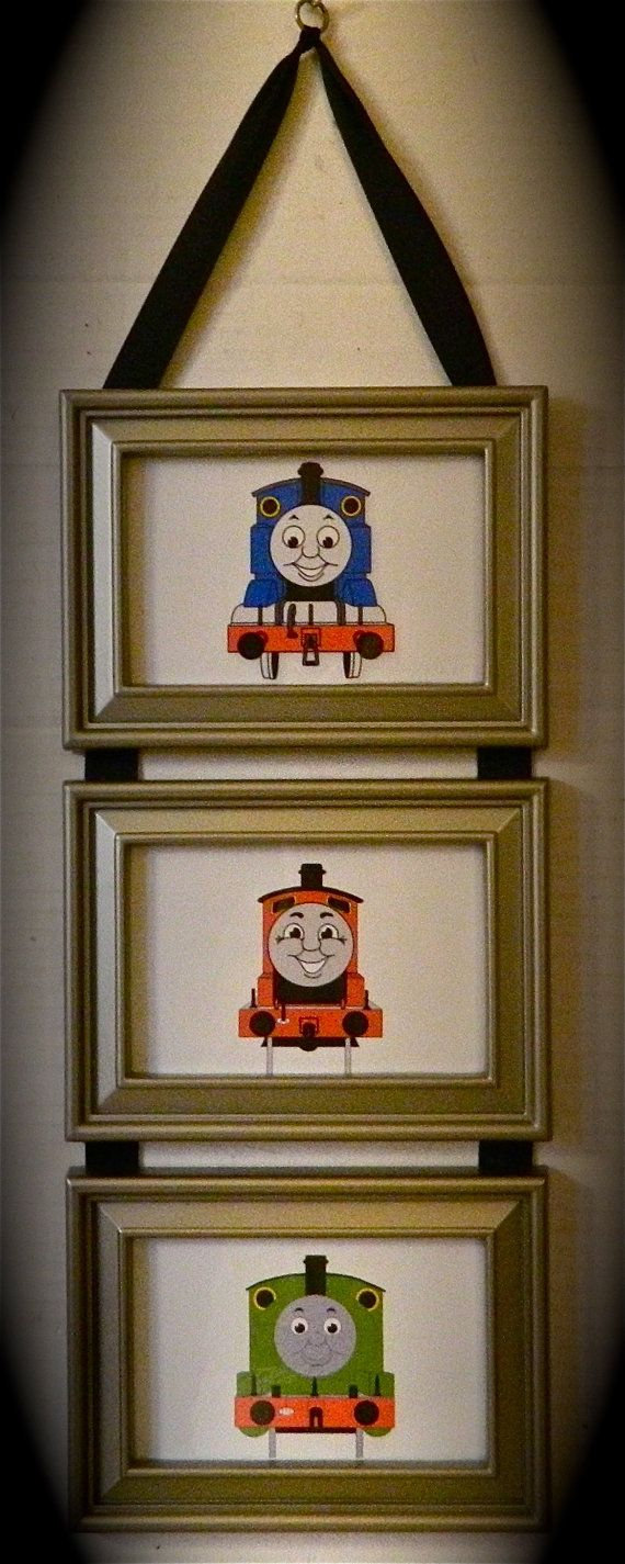 Kids room thomas the tank engine train friend picture for Picture frame decorating ideas for kids