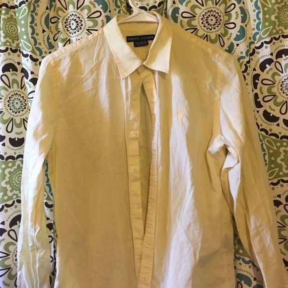 Ralph Lauren button down Good condition, pastel yellow Ralph Lauren Tops Button Down Shirts
