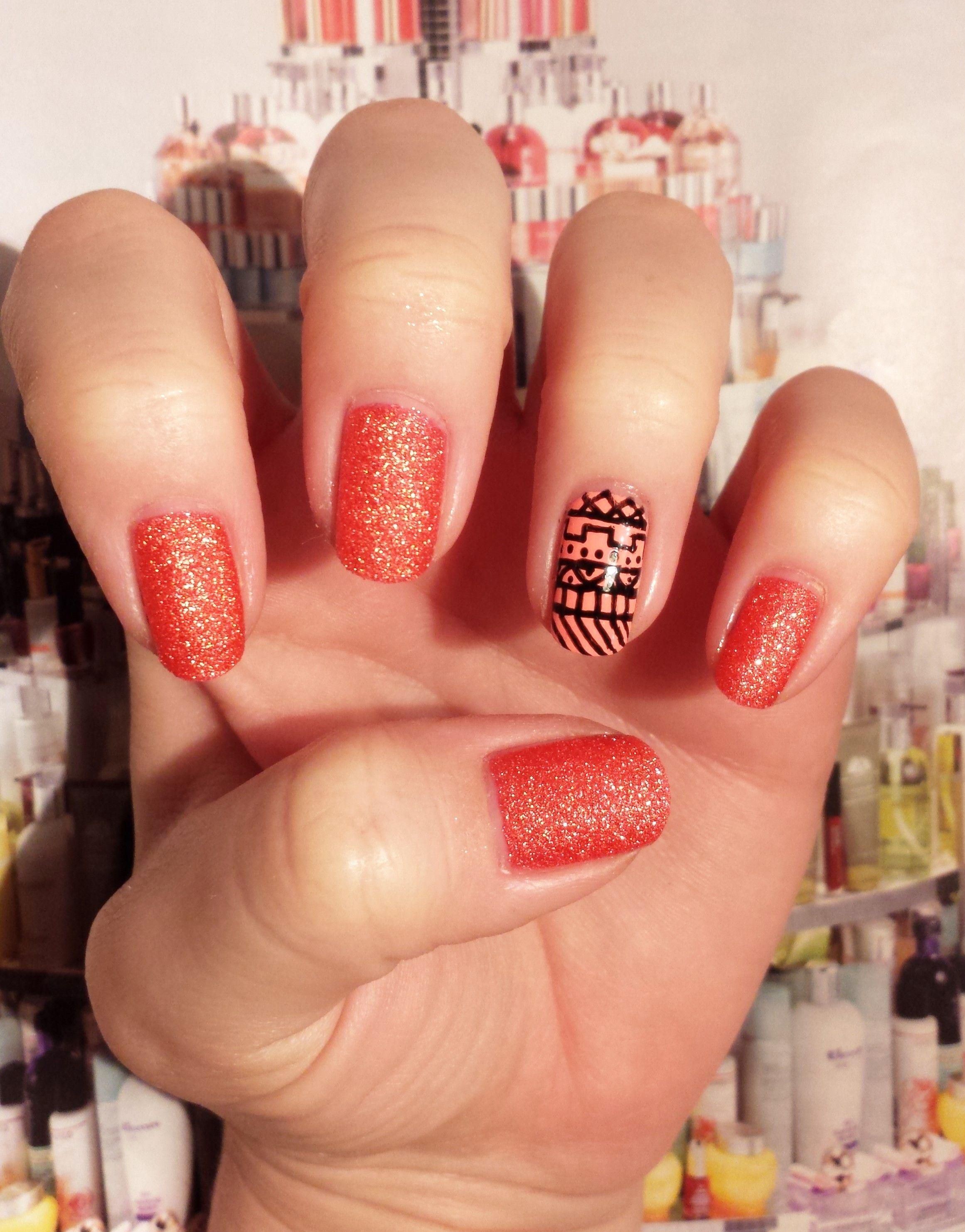 Textured and tribal nail art, by Rain | Tribal nails ...