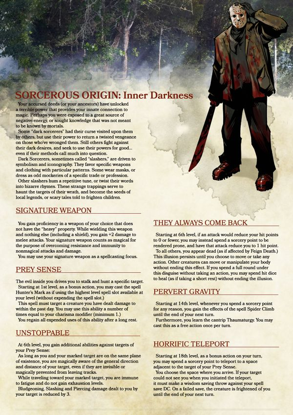 Play a Horror Movie Slasher in Your 5e Campaign | Dungeons & Dragons