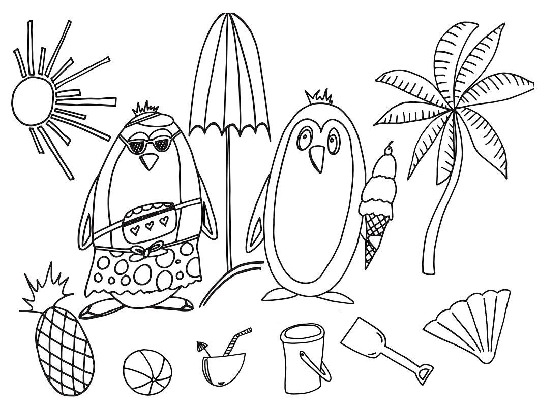 Free Penguin Printable Coloring Pages, Download Free Clip Art ... | 816x1056