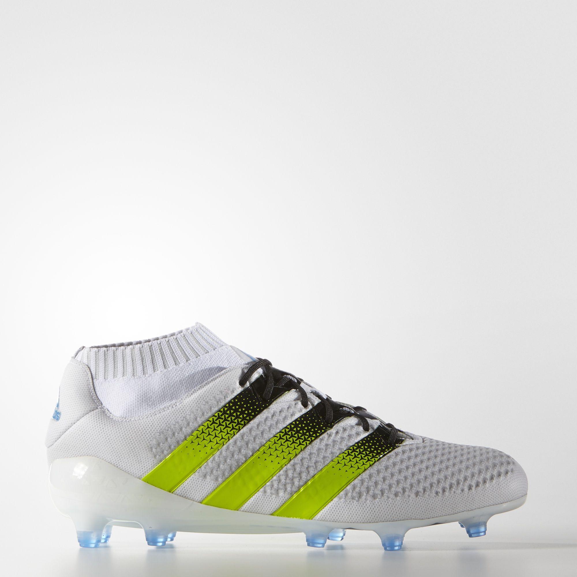 Herren Adidas ACE 16.1 Primeknit Firm Ground Fussballschuhe Weiß Solar Gold Shock Rosa Einzigartig Designed