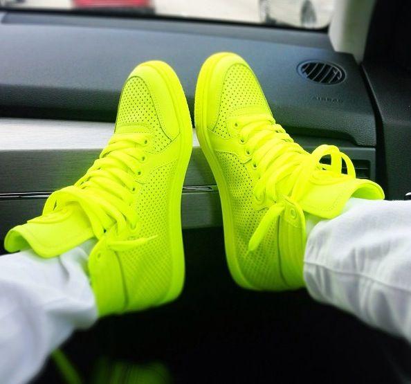 Jordan Shoes Neon Green