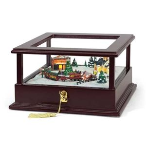 Animated Symphony Of Bells Musical Tabletop Decoration Showcase Music Box  Train  Mister Christmas  Pinterest  Music