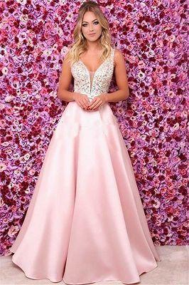 e2ab91d5dbd659 Schönes Abendkleid Lang Rosa Günstig | Elegante Abendmode Damen Online  Kaufen