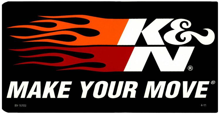 decal 2 1 2 quot x 5 quot make your move k n stickers pinterest performance air filters and oil