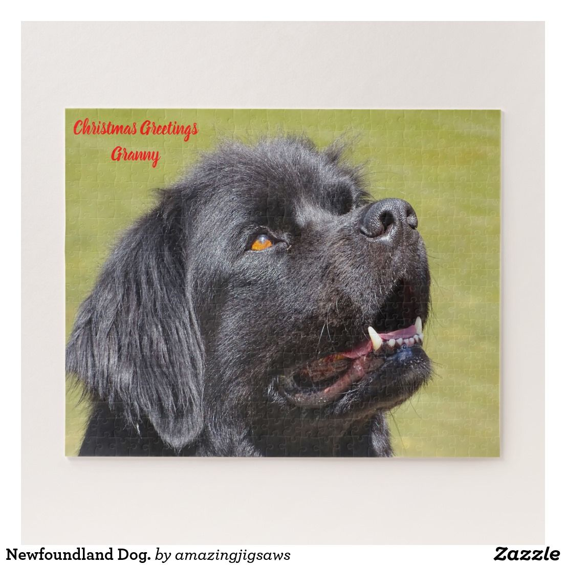 Newfoundland Dog. Jigsaw Puzzle Zazzle.co.uk Dogs