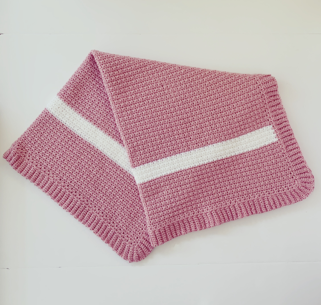 Daisy Farm Crafts Crochet Simple Pink Baby Blanket