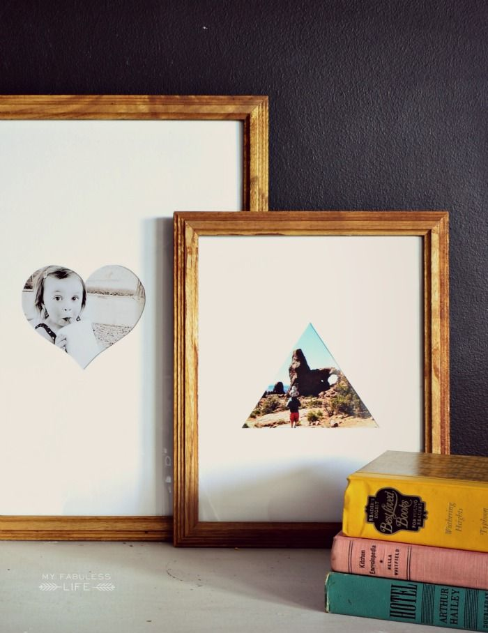 Diy Geometric Photo Mats Wall Art Crafts