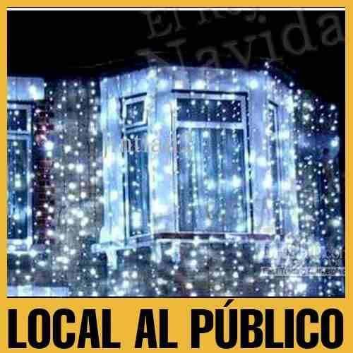 4eba6ac0213 cortina de luces led lluvia cascada 150x90 navidad fiestas ...