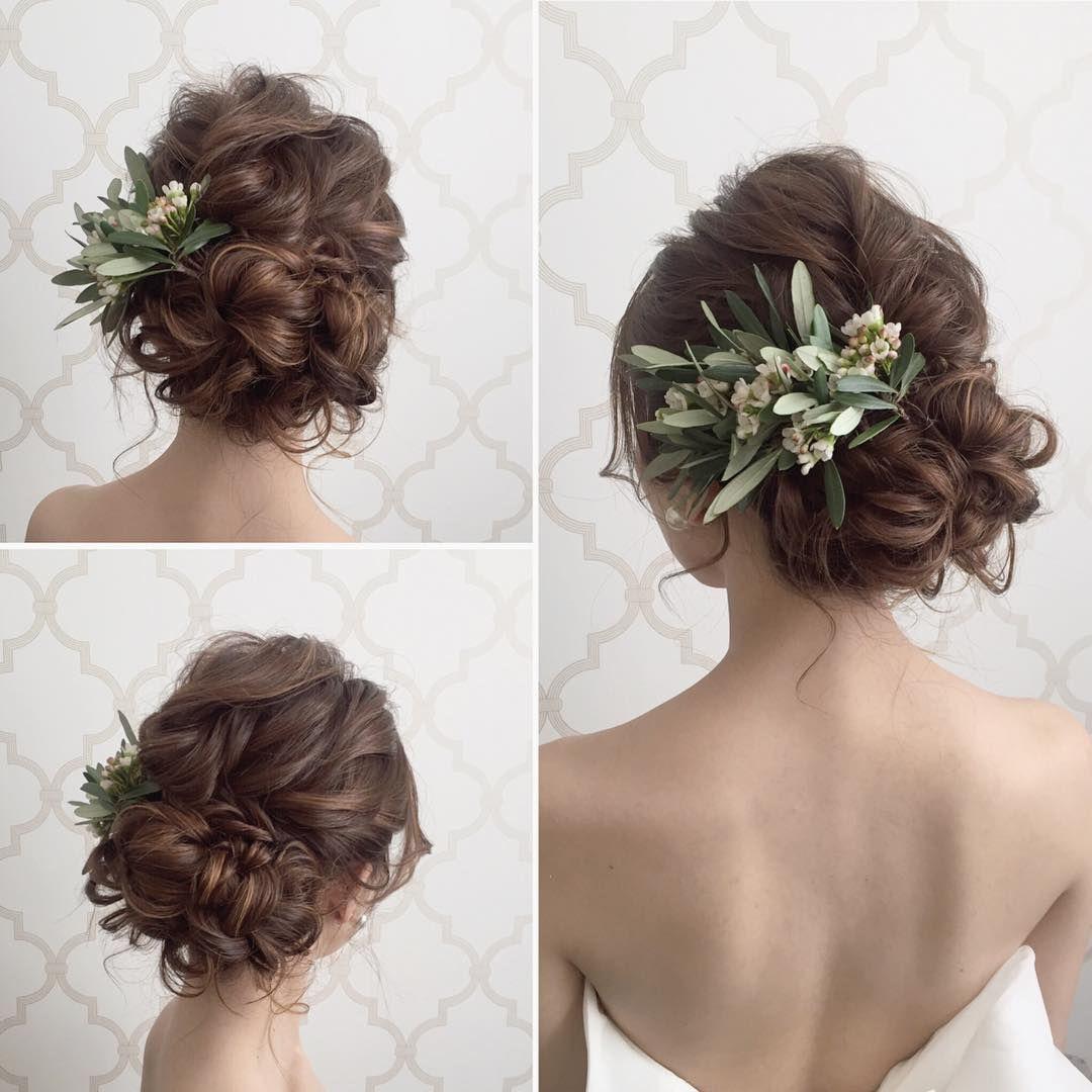 Natural Taste Up Do Bridal Hair Hair