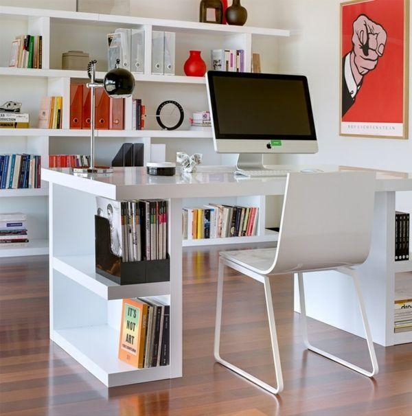 Computertische Pc Tisch Weiß Büroeinrichtung Moderne Büromöbel