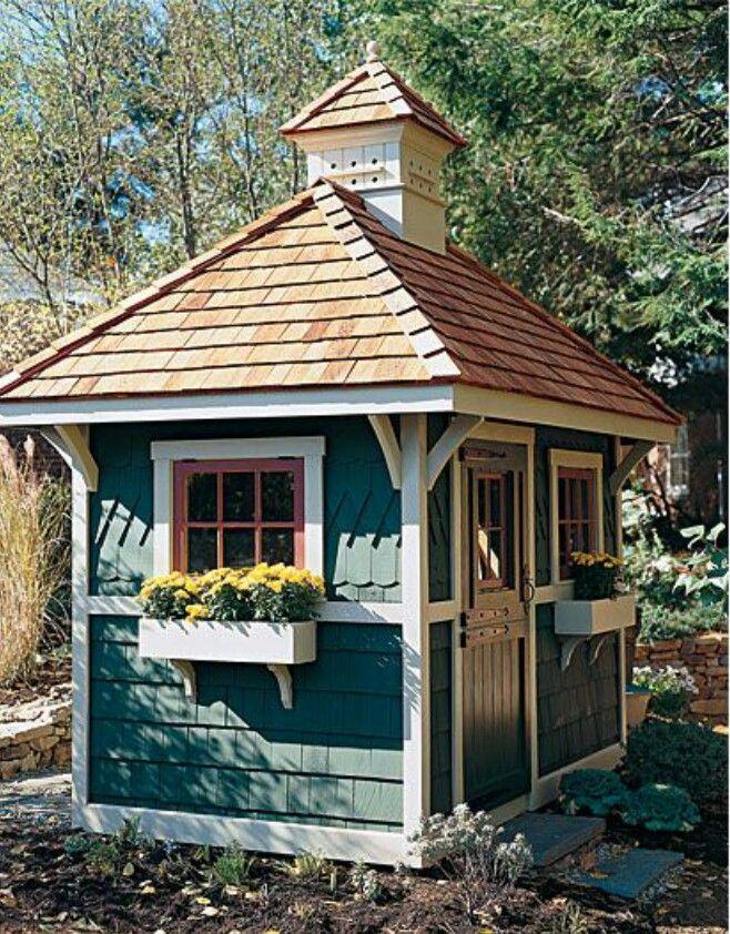 Summer house garden sheds backyard retreats big house and gardens - Large summer houses energizing retreat ...