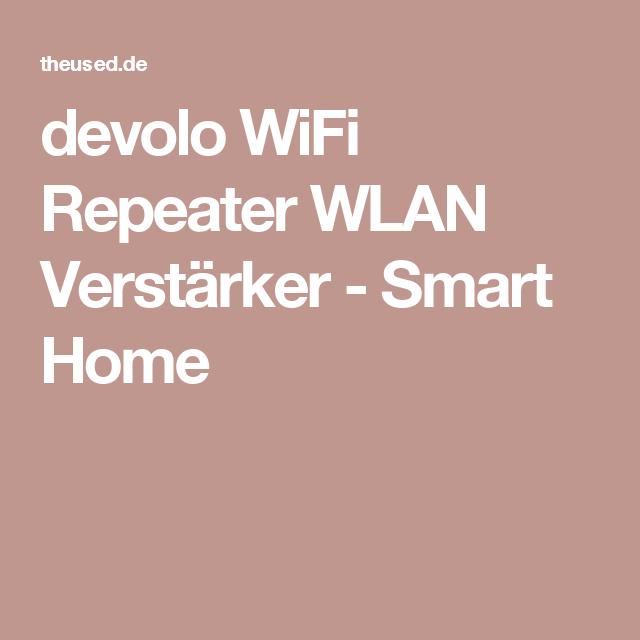Devolo Wifi Repeater Wlan Verstarker Smart Home Wifi Router Networking