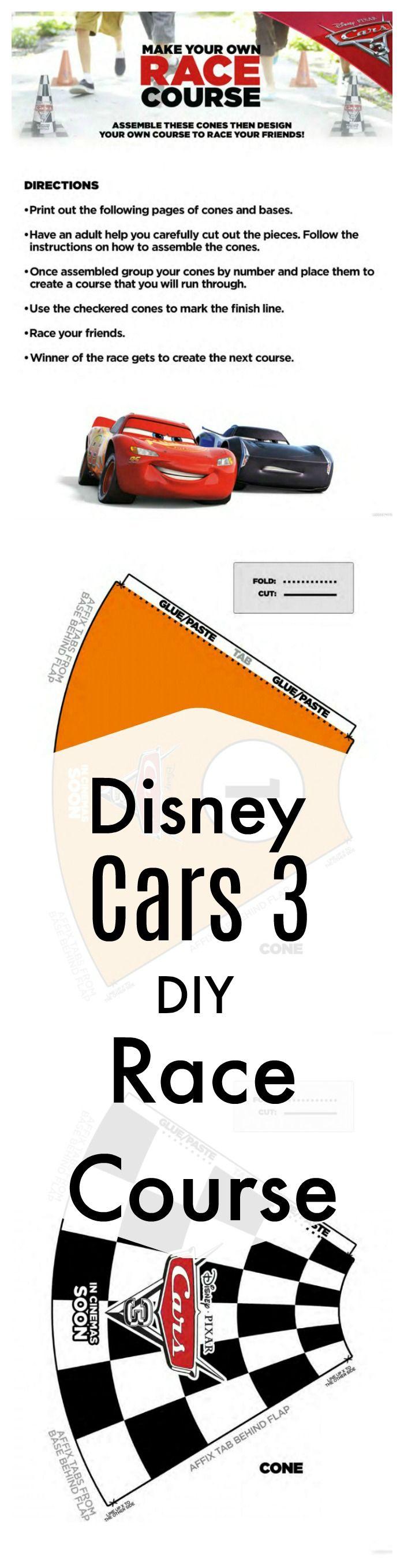Disney Cars 3 Printable DIY Race Course Game | Printable Coloring ...