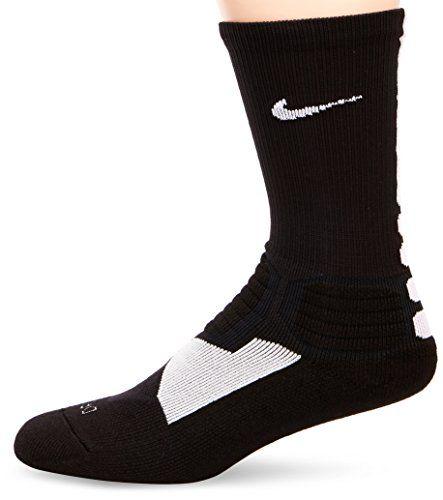 Nike Hyper Elite Crew Chaussettes Noir/Blanc FR : L (Taille Fabricant : L