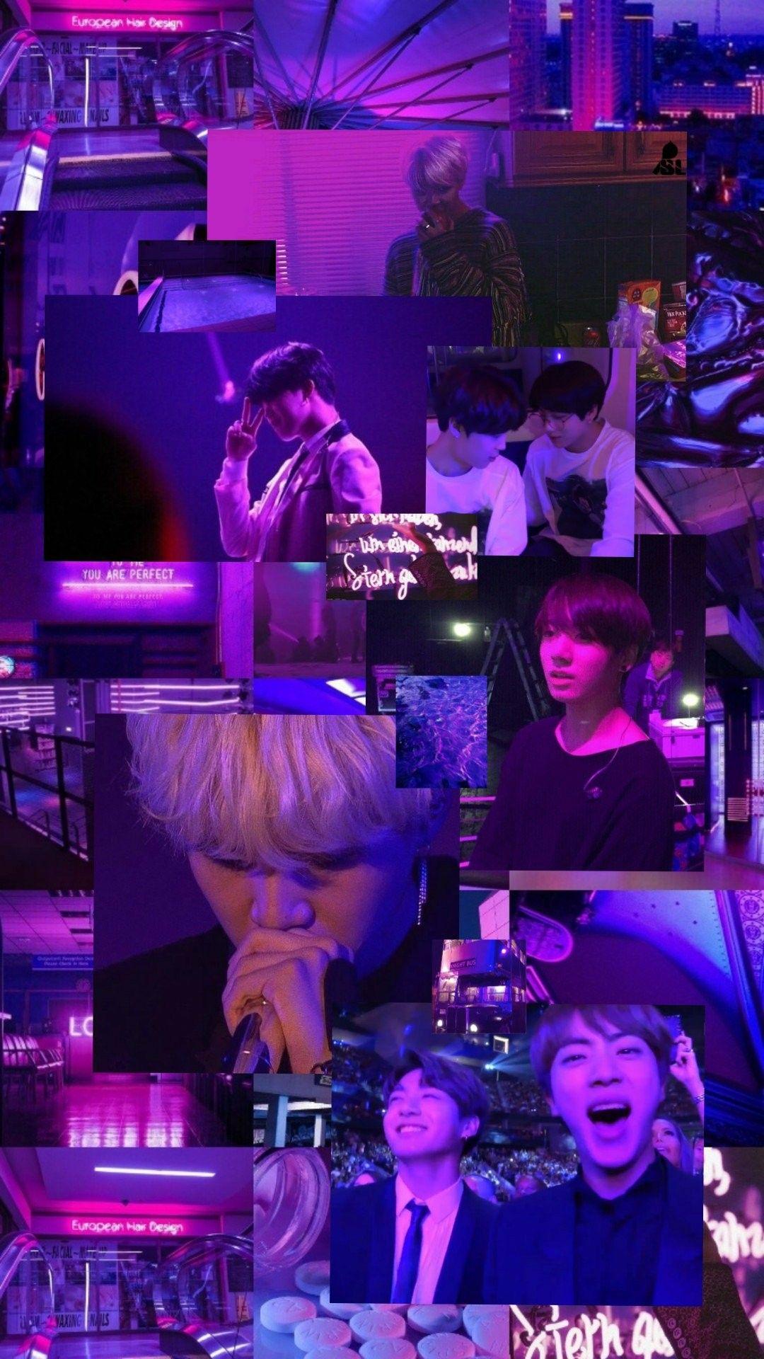BTS Purple Aesthetic Wallpaper / Kredit ke Twitter ...