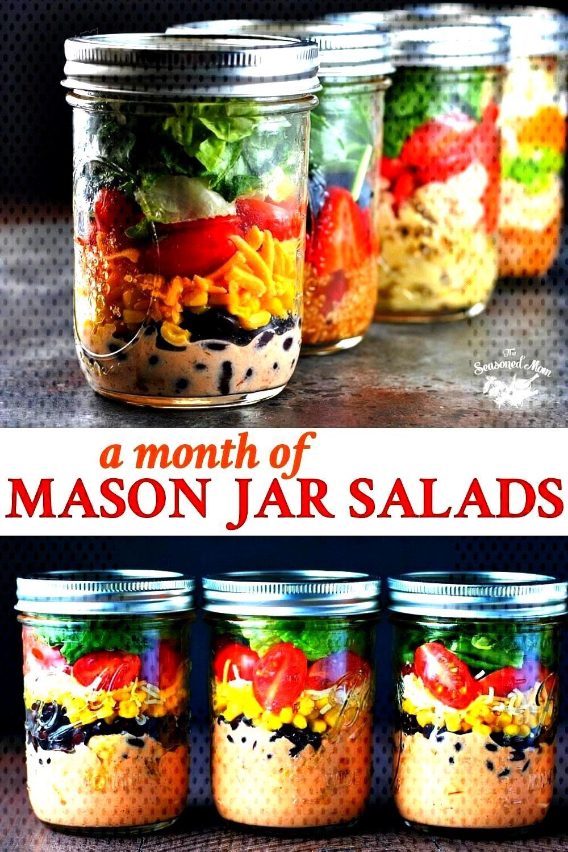of Mason Jar Salads! A Month of Mason Jar Salads!   4 awesome ways to use mason jars for meal prep-