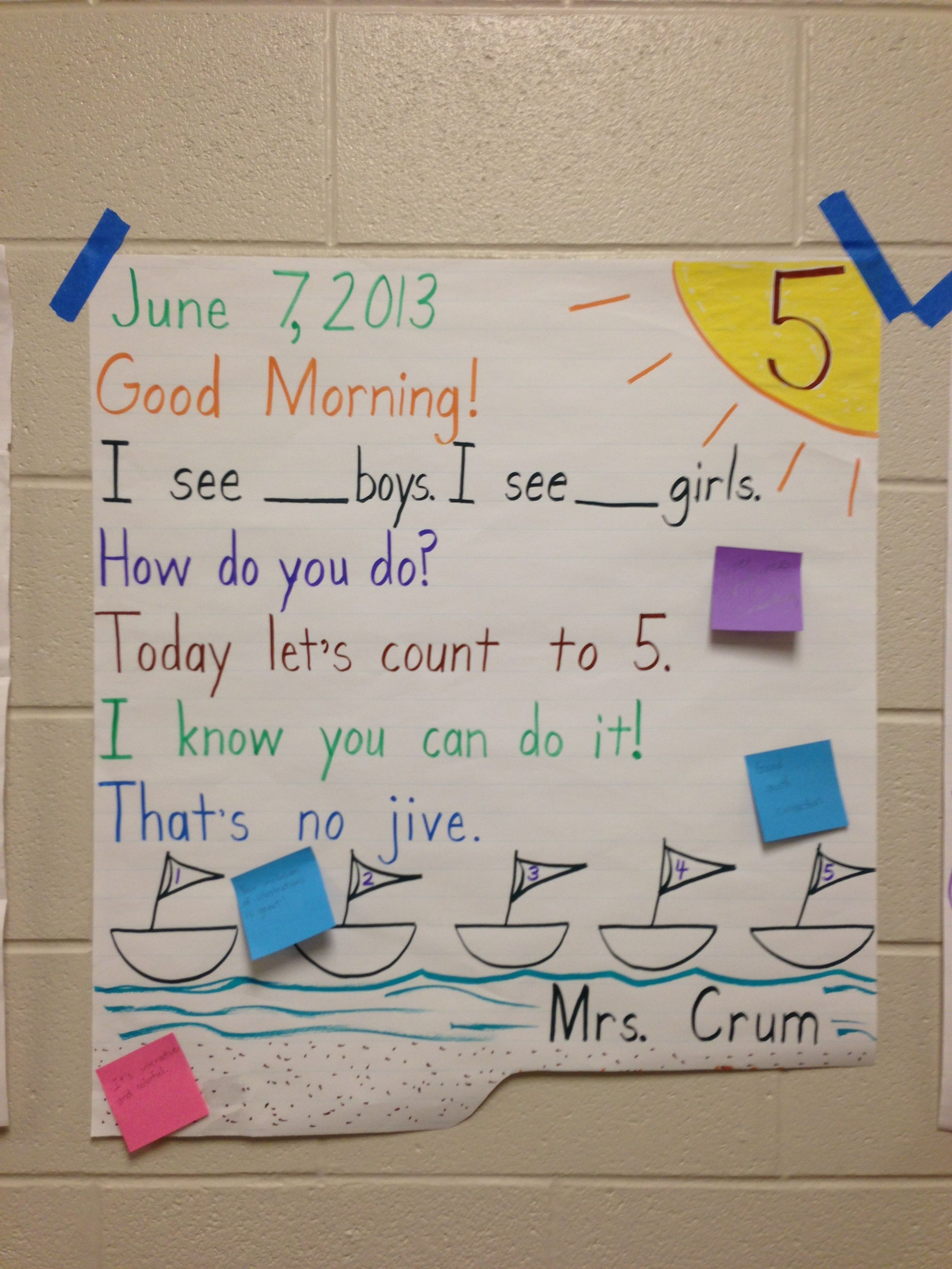 Morning message idea | Morning Meeting - Messages